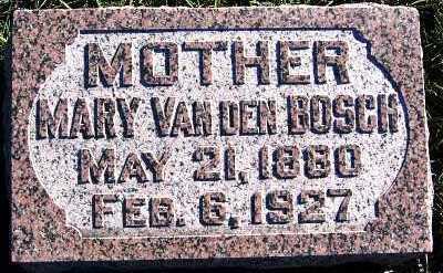 VANDENBOSCH, MARY - Sioux County, Iowa | MARY VANDENBOSCH