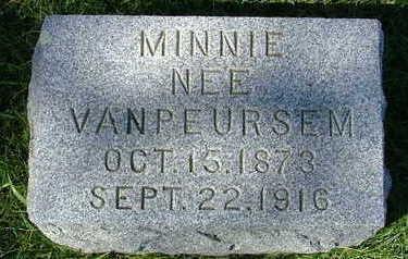 VANDENBRINK, MINNIE - Sioux County, Iowa | MINNIE VANDENBRINK