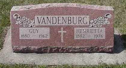 VANDENBURG, HENRIETTA - Sioux County, Iowa | HENRIETTA VANDENBURG
