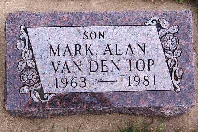 VANDENTOP, MARK ALAN - Sioux County, Iowa   MARK ALAN VANDENTOP
