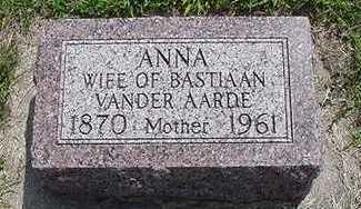 VANDERAARDE, ANNA - Sioux County, Iowa   ANNA VANDERAARDE