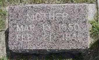 VANDERAARDE, MOTHER - Sioux County, Iowa | MOTHER VANDERAARDE