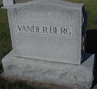 VANDERBERG, HEADSTONE - Sioux County, Iowa | HEADSTONE VANDERBERG