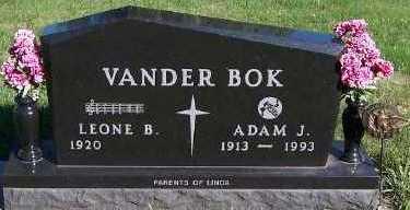 VANDERBOK, ADAM J. - Sioux County, Iowa   ADAM J. VANDERBOK