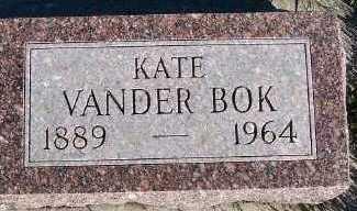 VANDERBOK, KATE - Sioux County, Iowa   KATE VANDERBOK