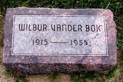 VANDERBOK, WILBUR - Sioux County, Iowa | WILBUR VANDERBOK