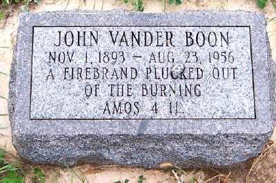 VANDERBOON, JOHN - Sioux County, Iowa   JOHN VANDERBOON