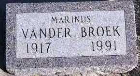 VANDERBROEK, MARINUS - Sioux County, Iowa   MARINUS VANDERBROEK