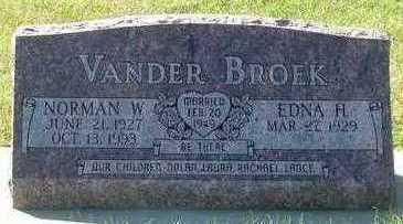 VANDERBROEK, NORMAN W. - Sioux County, Iowa | NORMAN W. VANDERBROEK