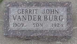 VANDERBURG, GERRIT JOHN - Sioux County, Iowa   GERRIT JOHN VANDERBURG