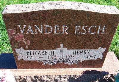 VANDERESCH, ELIZABETH - Sioux County, Iowa   ELIZABETH VANDERESCH