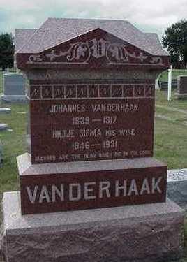 VANDERHAAK, JOHANNES - Sioux County, Iowa | JOHANNES VANDERHAAK