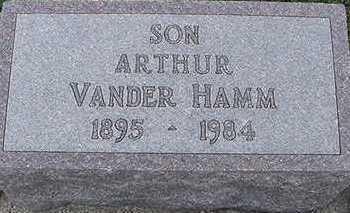 VANDERHAMM, ARTHUR (SON) - Sioux County, Iowa | ARTHUR (SON) VANDERHAMM