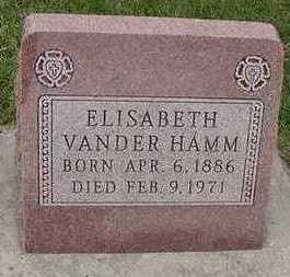 VANDERHAMM, ELISABETH - Sioux County, Iowa | ELISABETH VANDERHAMM
