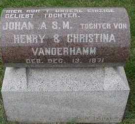 VANDERHAMM, JOHANNA S. M. - Sioux County, Iowa | JOHANNA S. M. VANDERHAMM