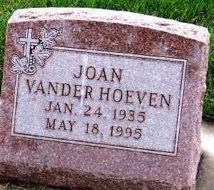 VANDERHOEVEN, JOAN - Sioux County, Iowa   JOAN VANDERHOEVEN