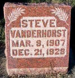 VANDERHORST, STEVE - Sioux County, Iowa   STEVE VANDERHORST