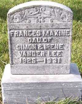 VANDERLEE, FRANCES MAXINE - Sioux County, Iowa | FRANCES MAXINE VANDERLEE