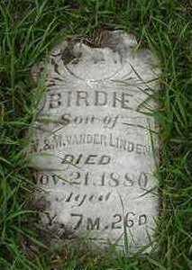 VANDERLINDEN, BIRDIE - Sioux County, Iowa | BIRDIE VANDERLINDEN