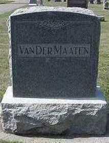VANDERMAATEN, HEADSTONE - Sioux County, Iowa   HEADSTONE VANDERMAATEN