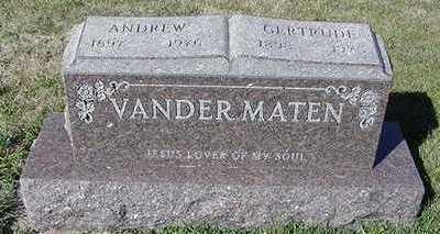 VANDERMATEN, GERTRUDE (MRS. ANDREW) - Sioux County, Iowa | GERTRUDE (MRS. ANDREW) VANDERMATEN