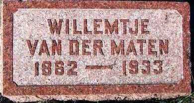 VANDERMATEN, WILLEMTJE - Sioux County, Iowa | WILLEMTJE VANDERMATEN