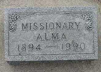 VANDERMEER, ALMA - Sioux County, Iowa   ALMA VANDERMEER