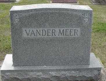 VANDERMEER, HEADSTONE - Sioux County, Iowa | HEADSTONE VANDERMEER