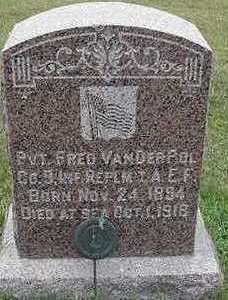 VANDERPOL, FRED - Sioux County, Iowa   FRED VANDERPOL