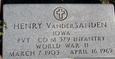 VANDERSANDEN, HENRY - Sioux County, Iowa | HENRY VANDERSANDEN