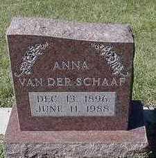 VAN DER SCHAAF, ANNA - Sioux County, Iowa | ANNA VAN DER SCHAAF