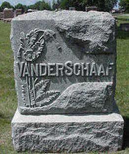 VANDER SCHAAF, HEADSTONE - Sioux County, Iowa | HEADSTONE VANDER SCHAAF