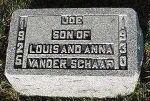 VANDER SCHAAF, JOE - Sioux County, Iowa   JOE VANDER SCHAAF