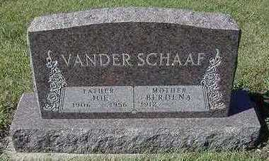 VANDER SCHAAF, BERDENA (MRS. JOE) - Sioux County, Iowa | BERDENA (MRS. JOE) VANDER SCHAAF