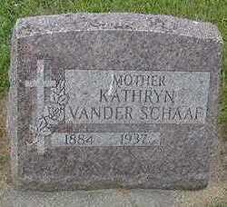 VANDER SCHAAF, KATHRYN - Sioux County, Iowa   KATHRYN VANDER SCHAAF