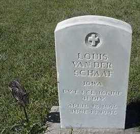 VAN DER SCHAAF, LOUIS - Sioux County, Iowa | LOUIS VAN DER SCHAAF
