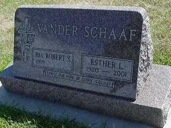 VANDER SCHAAF, ROBERT S. REV. - Sioux County, Iowa | ROBERT S. REV. VANDER SCHAAF