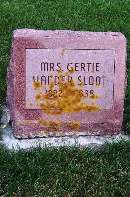 VANDERSLOOT, MRS. GERTIE ( 1882-1938) - Sioux County, Iowa | MRS. GERTIE ( 1882-1938) VANDERSLOOT