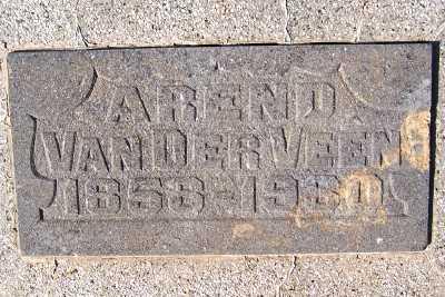 VANDERVEEN, AREND (1858-1930) - Sioux County, Iowa | AREND (1858-1930) VANDERVEEN
