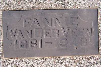 VANDERVEEN, FANNIE - Sioux County, Iowa | FANNIE VANDERVEEN