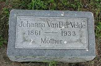 VANDERVELDE, JOHANNA - Sioux County, Iowa | JOHANNA VANDERVELDE