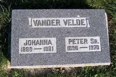 VANDERVELDE, JOHANNA - Sioux County, Iowa   JOHANNA VANDERVELDE