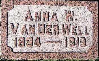 VANDERWELL, ANNA W. - Sioux County, Iowa | ANNA W. VANDERWELL
