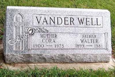 VANDERWELL, WALTER - Sioux County, Iowa | WALTER VANDERWELL