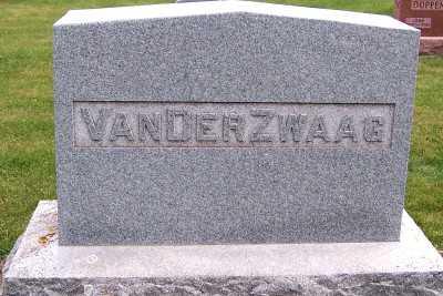 VANDERZWAAG, HEADSTONE - Sioux County, Iowa   HEADSTONE VANDERZWAAG