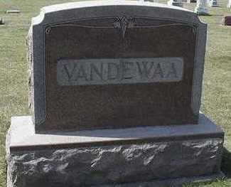 VANDEWAA, HEADSTONE - Sioux County, Iowa   HEADSTONE VANDEWAA