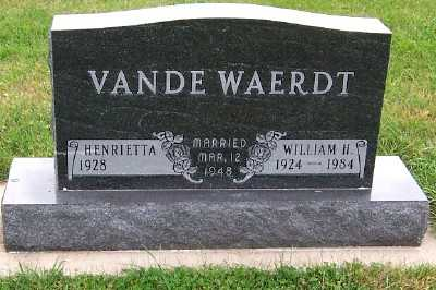 VANDEWAERDT, WILLIAM H. - Sioux County, Iowa | WILLIAM H. VANDEWAERDT