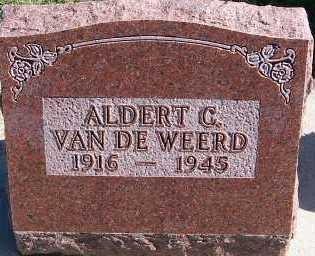 VANDEWEERD, ALDERT C. - Sioux County, Iowa | ALDERT C. VANDEWEERD