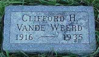 VANDEWEERD, CLIFFORD - Sioux County, Iowa | CLIFFORD VANDEWEERD