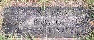 VANDEWEERD, GARLENE FRANCES - Sioux County, Iowa | GARLENE FRANCES VANDEWEERD